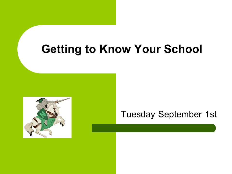 Getting to Know Your School