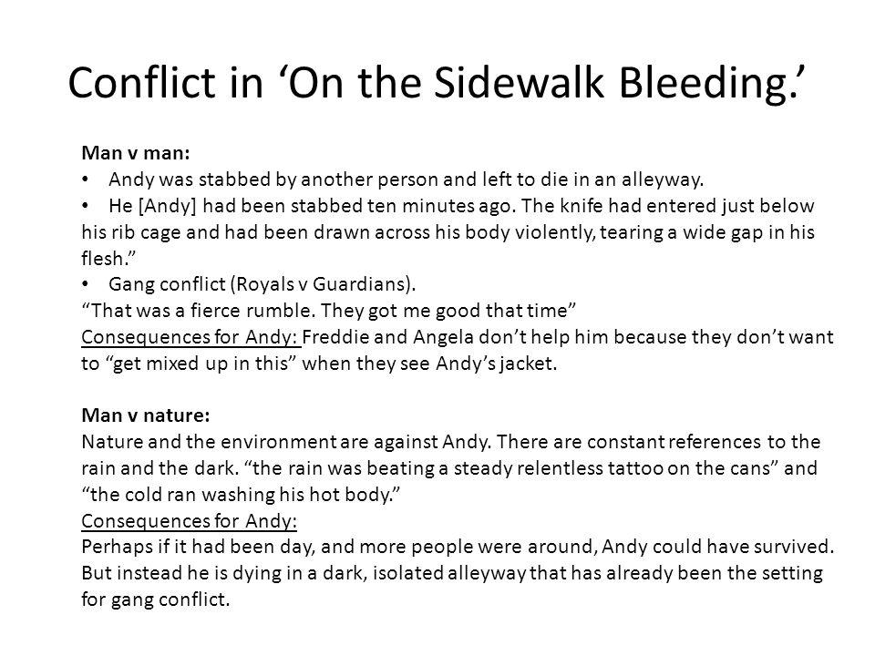 On The Sidewalk Bleeding Ppt Video Online Download
