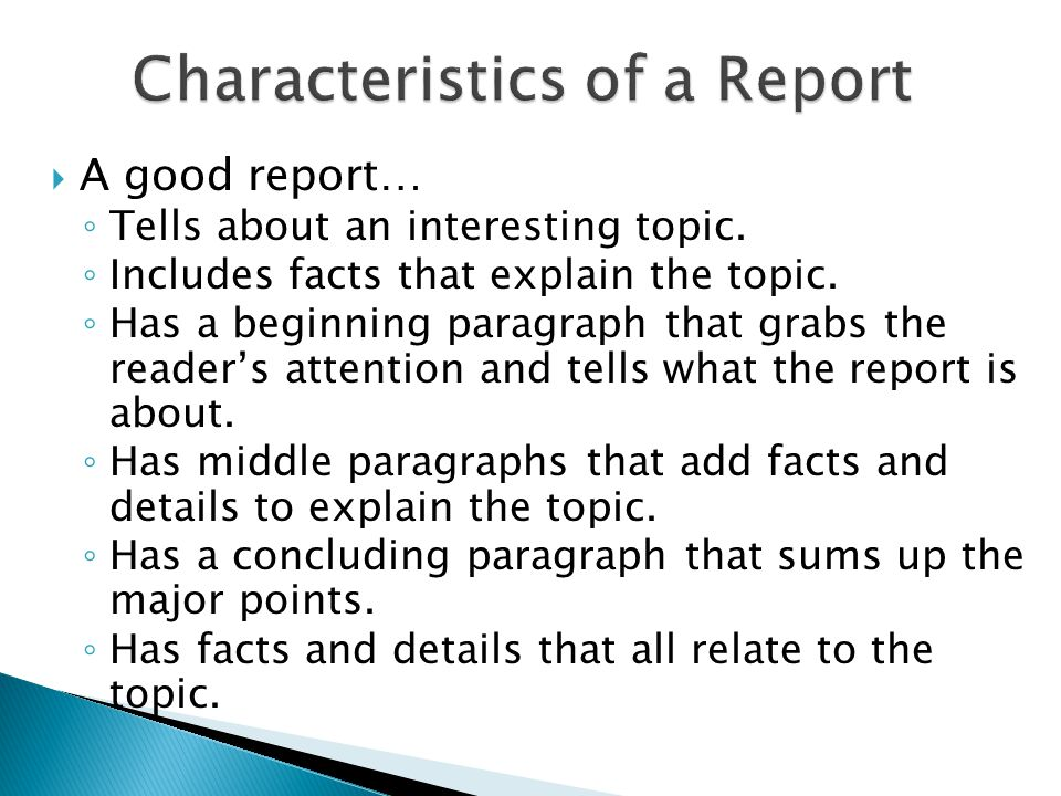 interesting topics for report writing