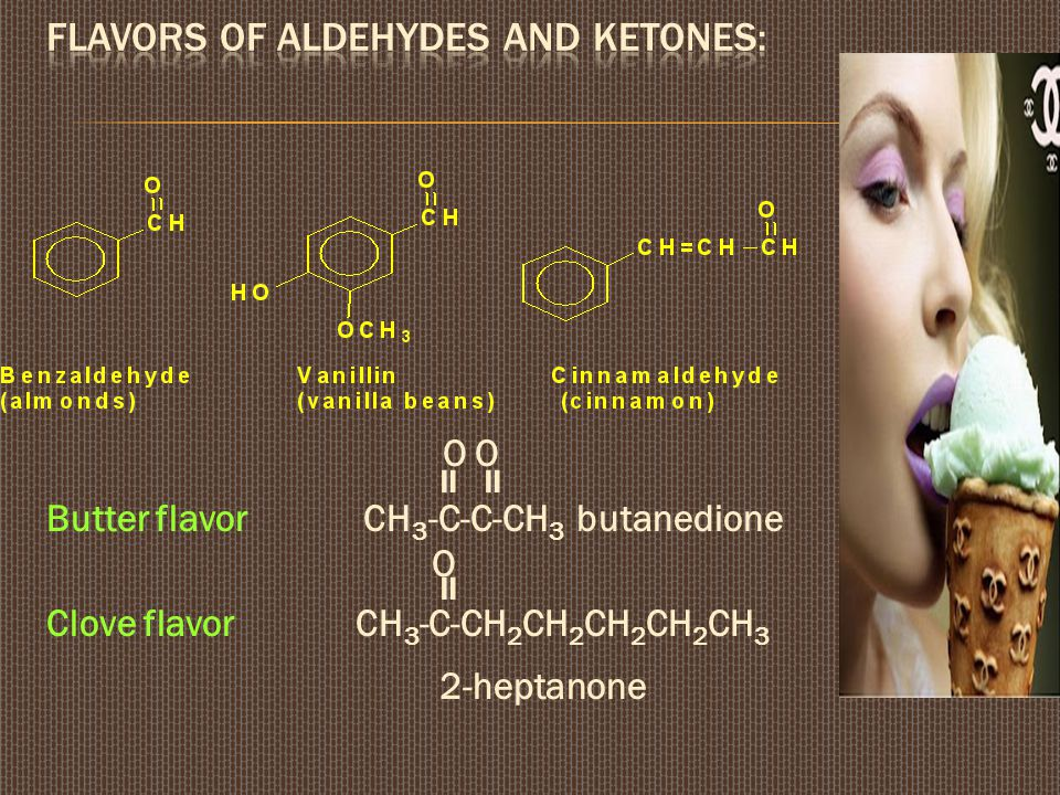 Flavors of aldehydes and ketones: