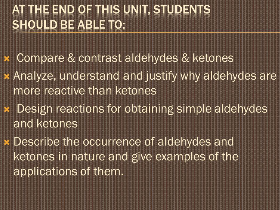 At the end of this unit, students should be able to: