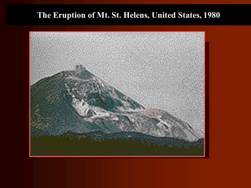 The Eruption of Mt. St. Helens, United States, 1980