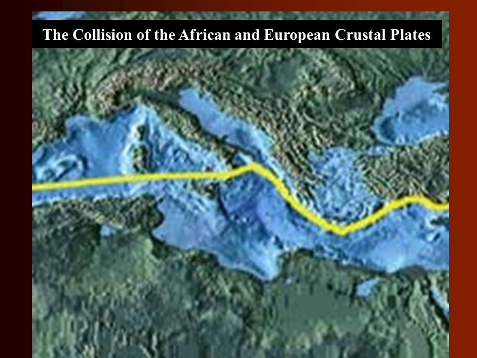 The Collision of the African and European Crustal Plates