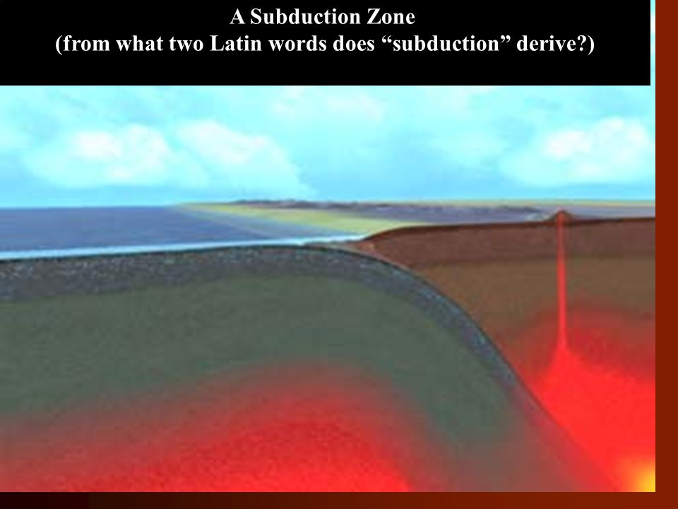 (from what two Latin words does subduction derive )