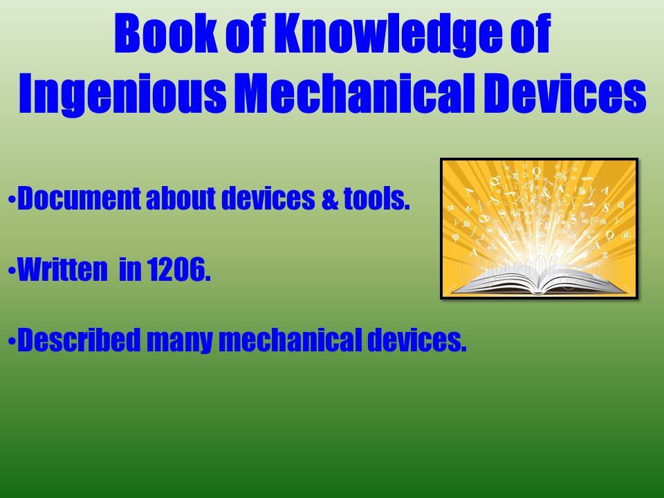 Book of Knowledge of Ingenious Mechanical Devices