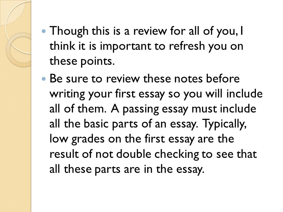 parts of an essay a review  ppt video online download though this is a review for all of you i think it is important to