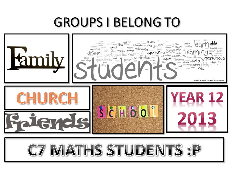 CHURCH C7 MATHS STUDENTS :P
