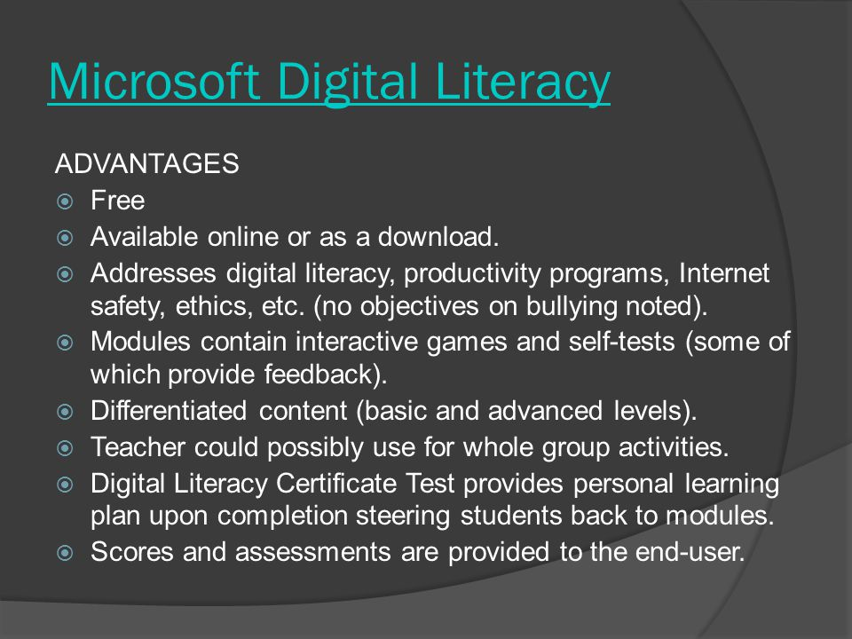 Microsoft Digital Literacy