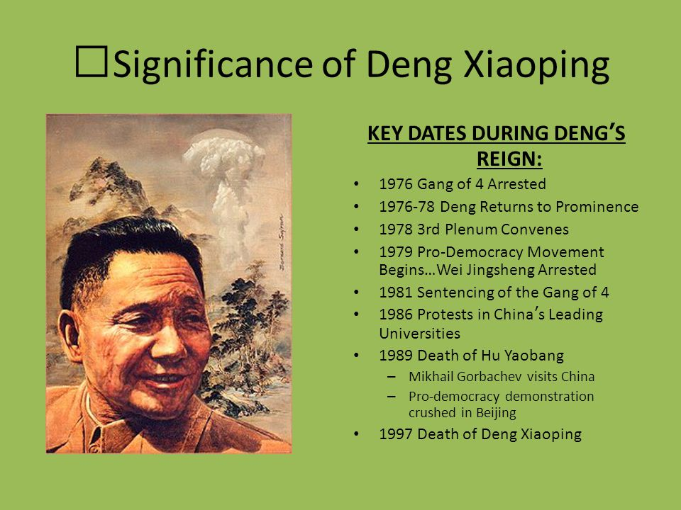 Significance of Deng Xiaoping