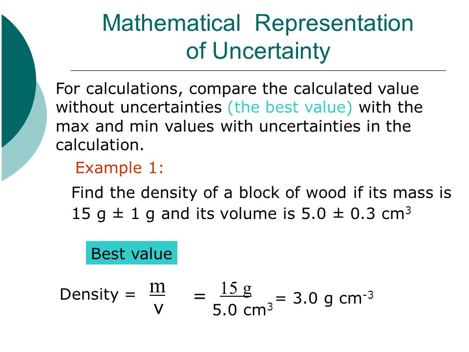 Mathematical Representation of Uncertainty