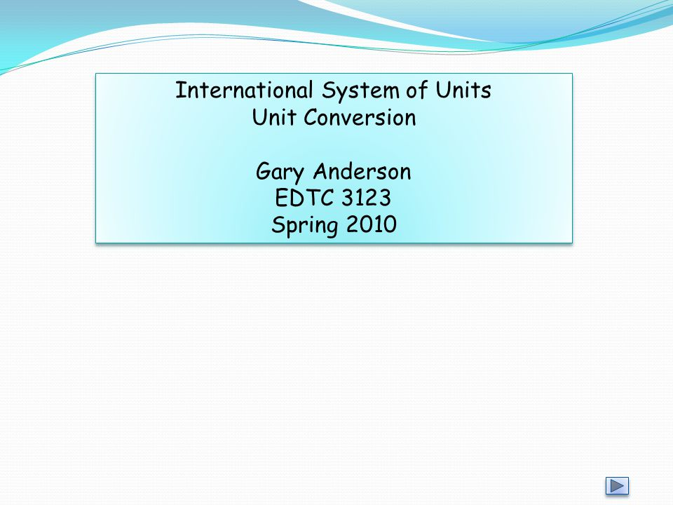 International System of Units