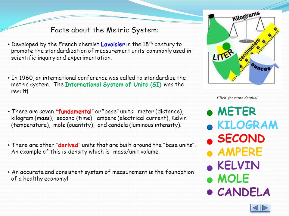 Facts about the Metric System: