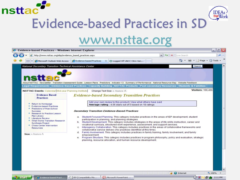 Evidence-based Practices in SD www.nsttac.org