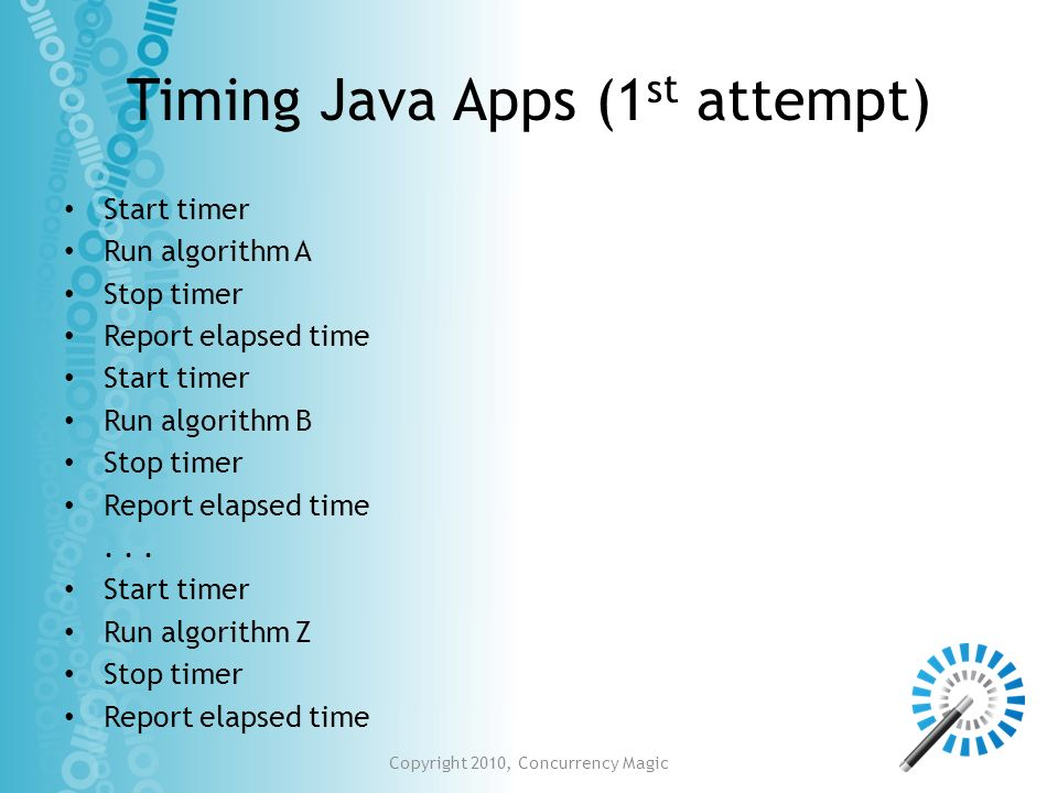 Timing Java Apps (1st attempt)