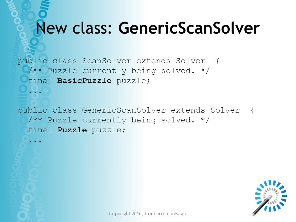 New class: GenericScanSolver