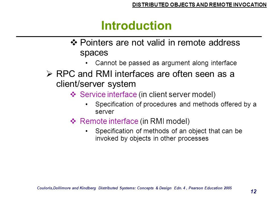 Introduction Pointers are not valid in remote address spaces