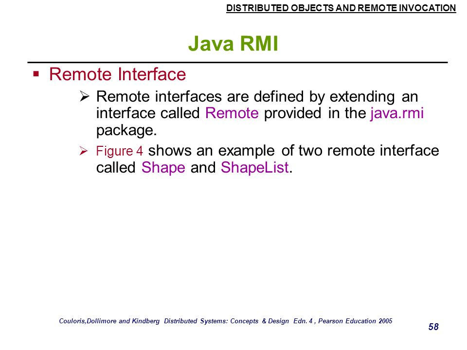 Java RMI Remote Interface