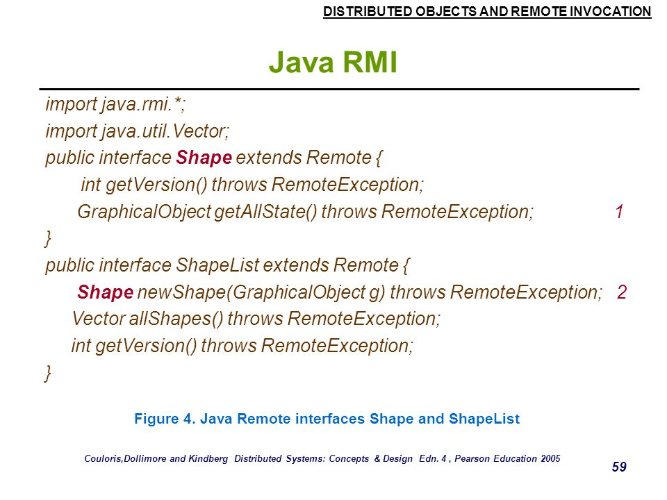 Java RMI import java.rmi.*; import java.util.Vector;