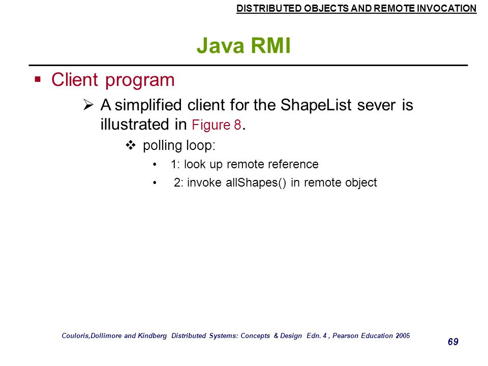 Java RMI Client program
