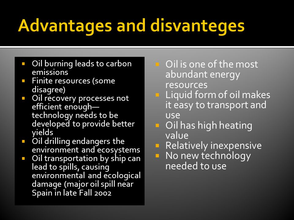 Advantages and disvanteges
