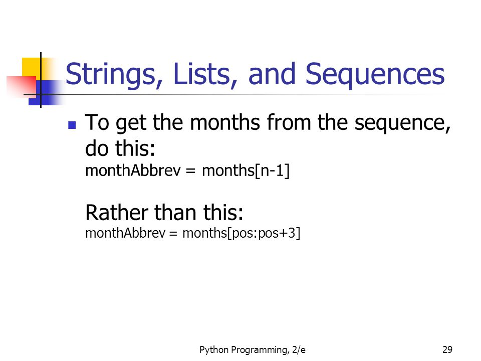 Strings, Lists, and Sequences