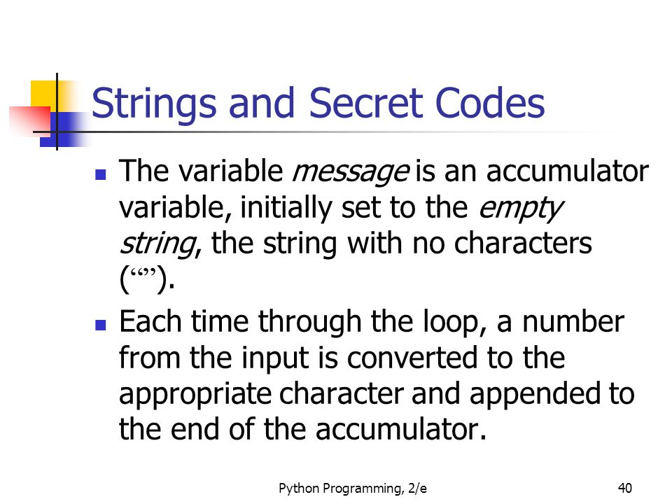 Strings and Secret Codes