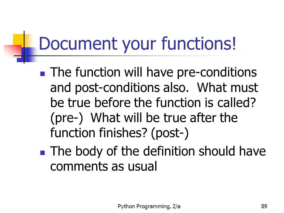 Document your functions!