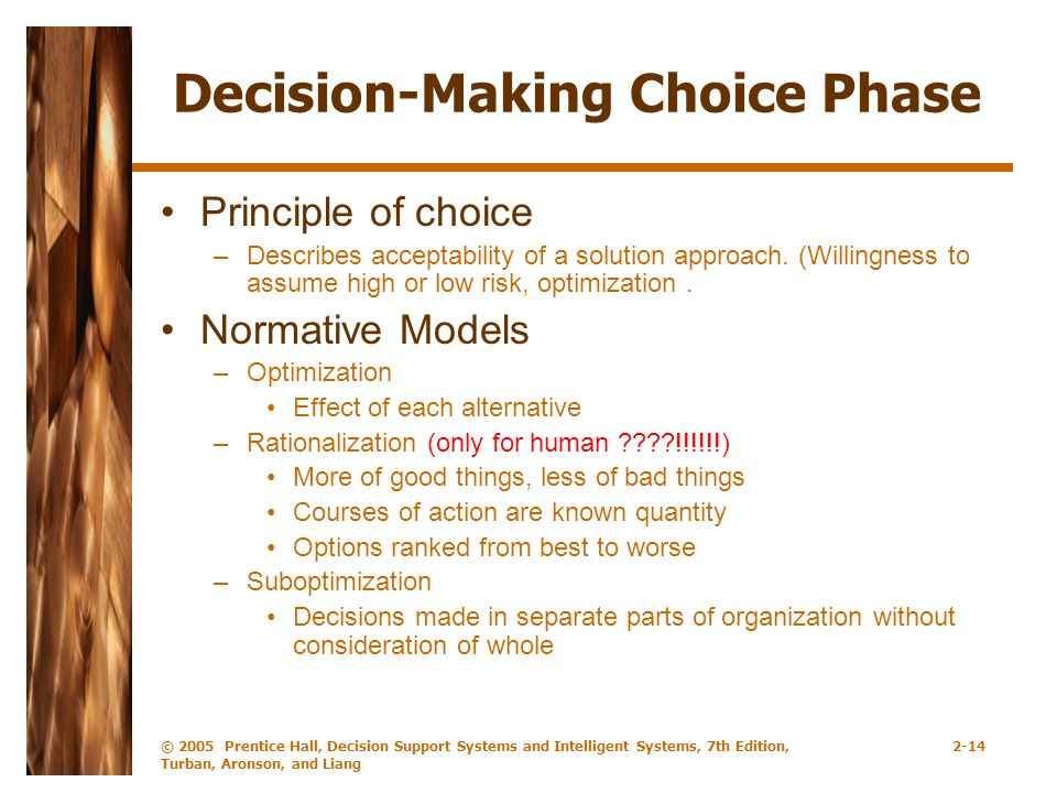 Decision-Making Choice Phase