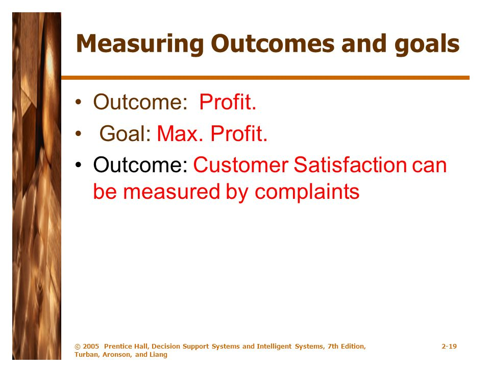 Measuring Outcomes and goals
