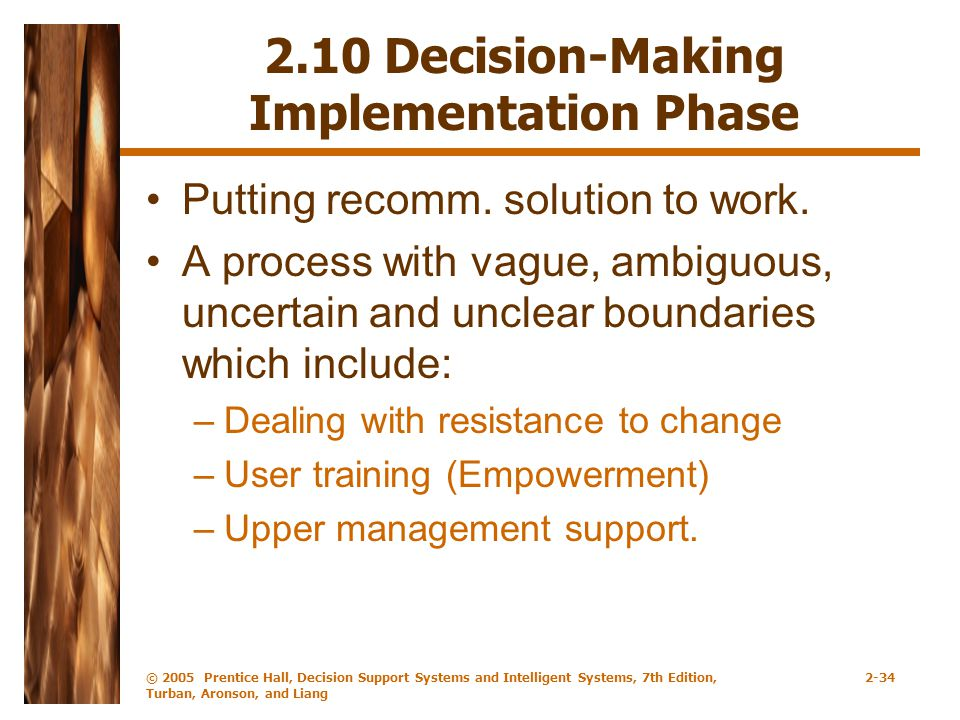 2.10 Decision-Making Implementation Phase