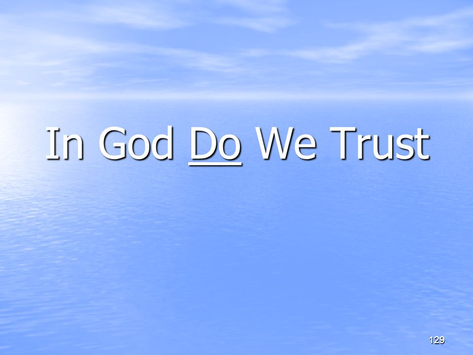 In God Do We Trust