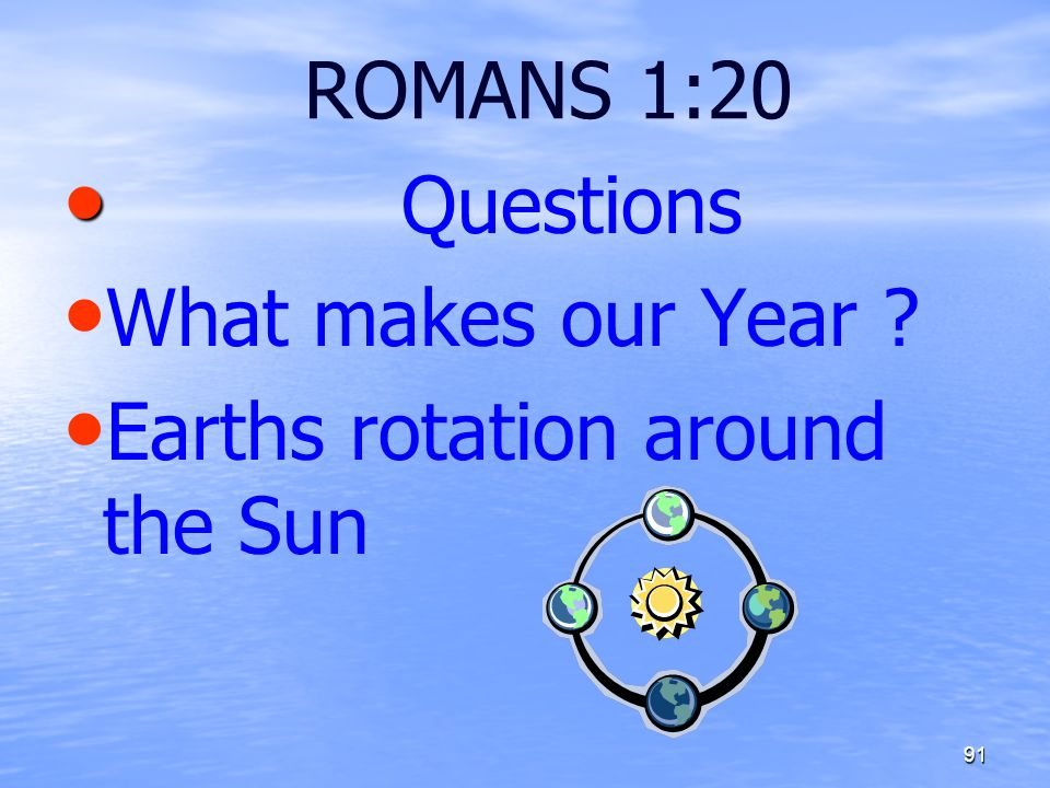 Earths rotation around the Sun
