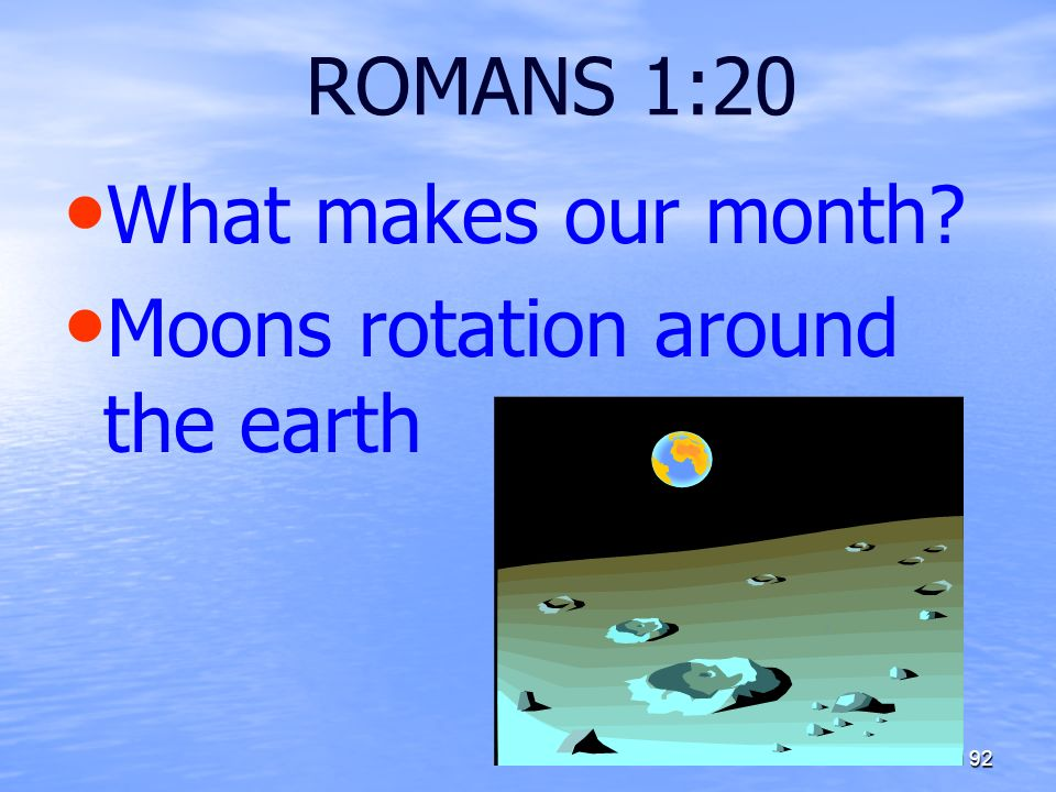 Moons rotation around the earth
