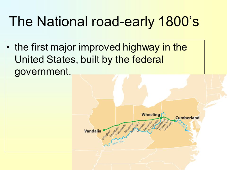 The National road-early 1800's