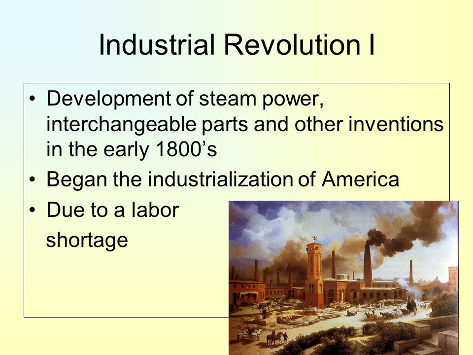 Industrial Revolution I