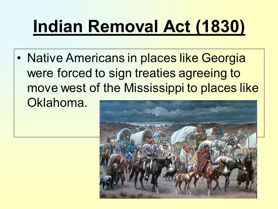 Indian Removal Act (1830)