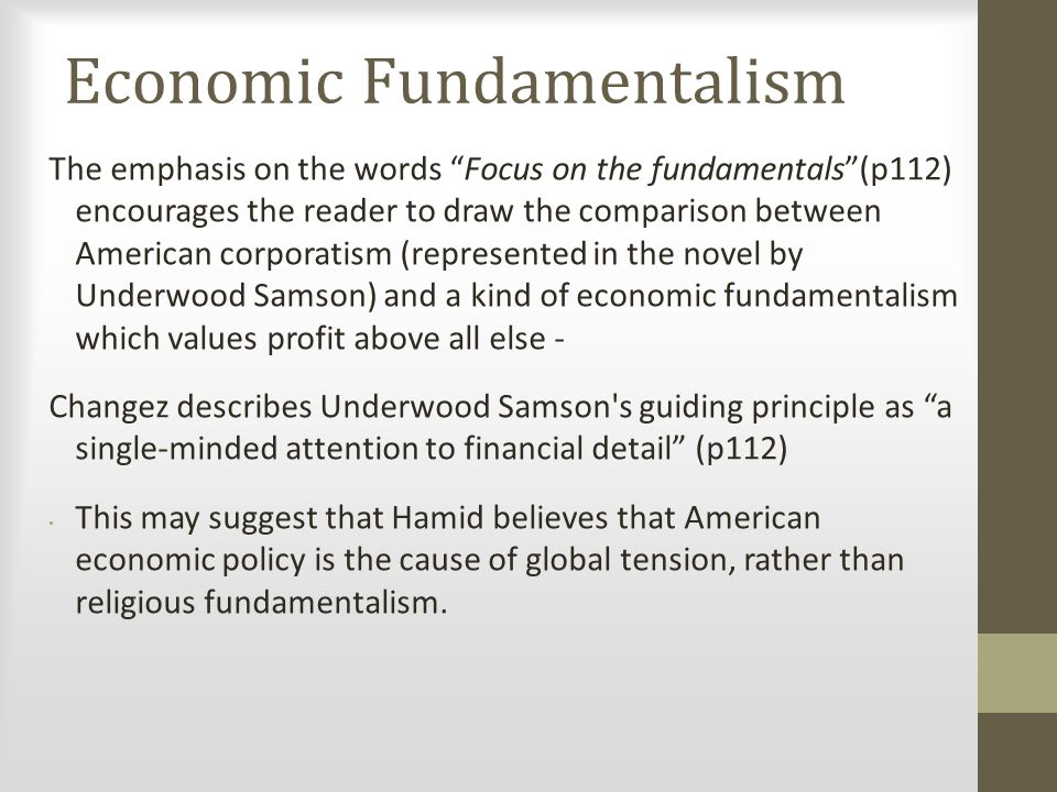 Economic Fundamentalism
