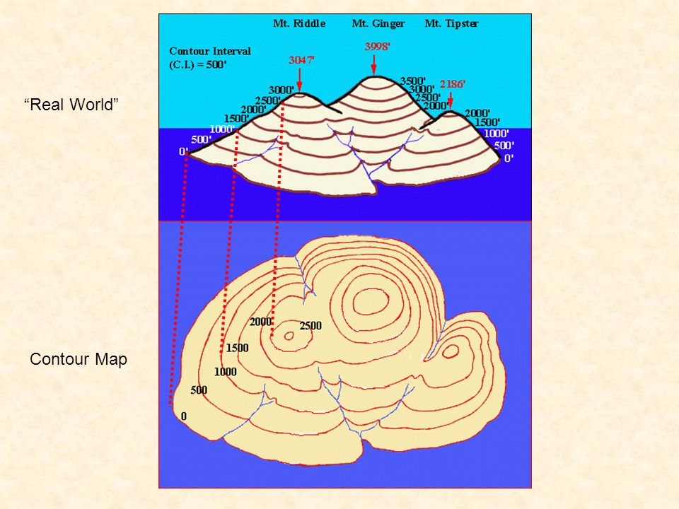 Real World Contour Map
