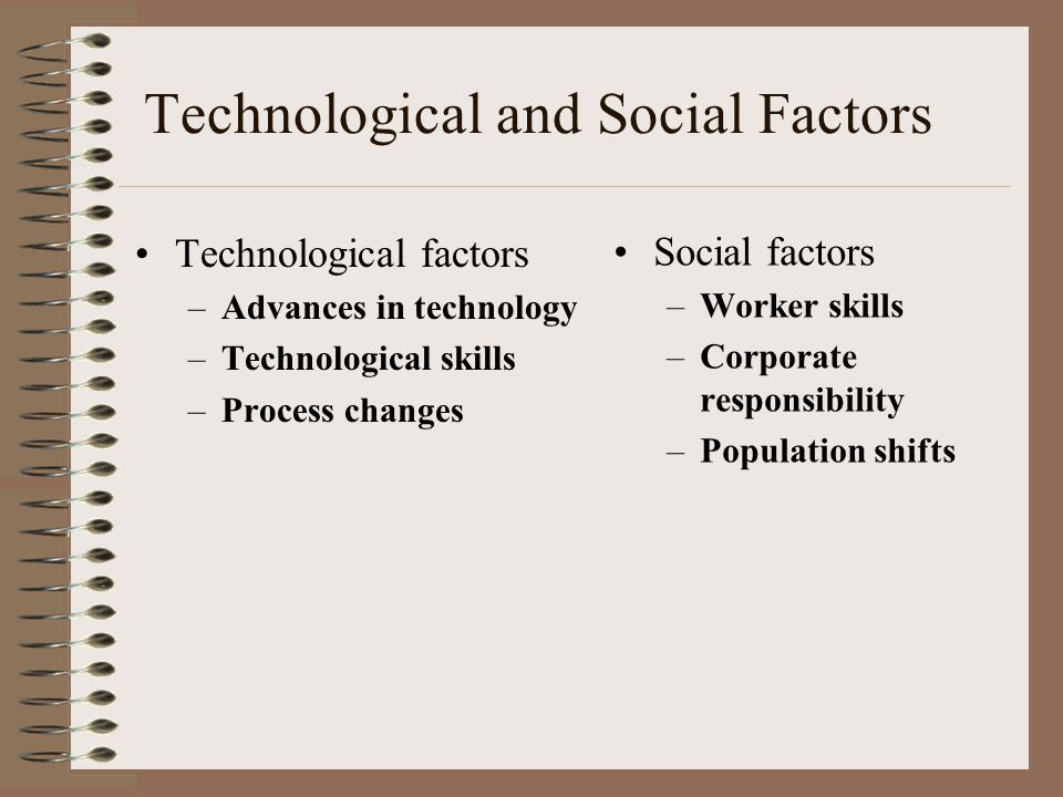 Technological and Social Factors