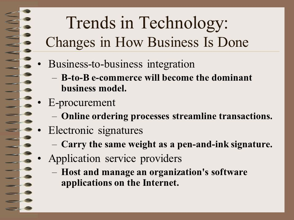 Trends in Technology: Changes in How Business Is Done