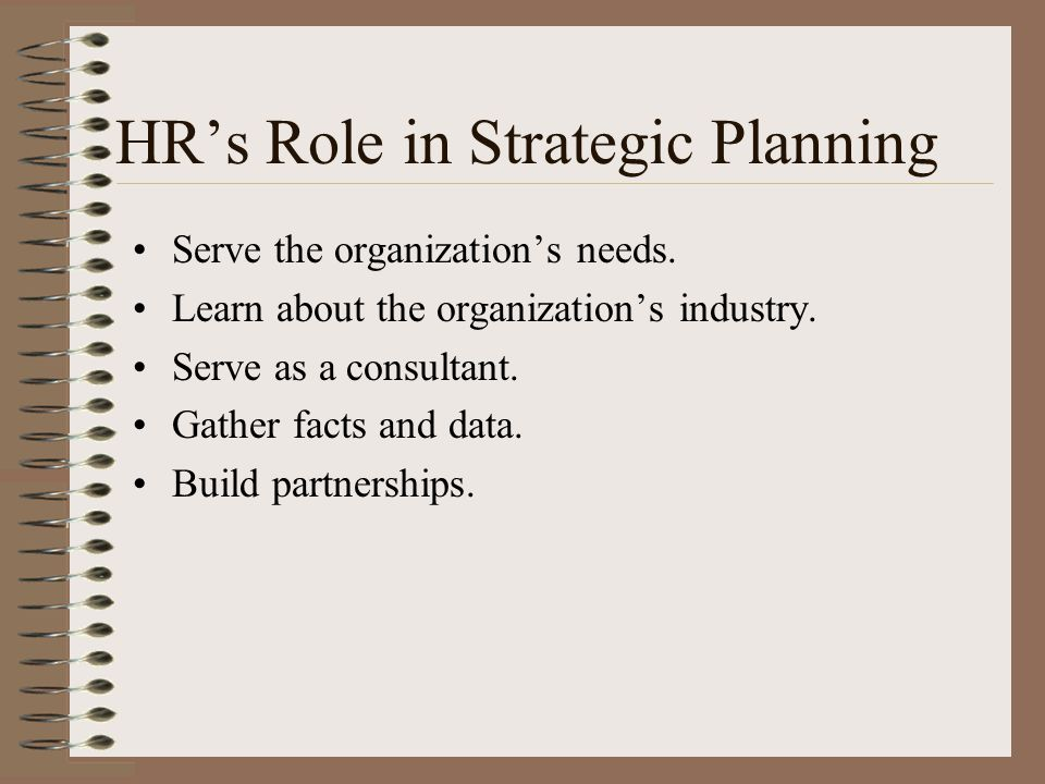 HR's Role in Strategic Planning