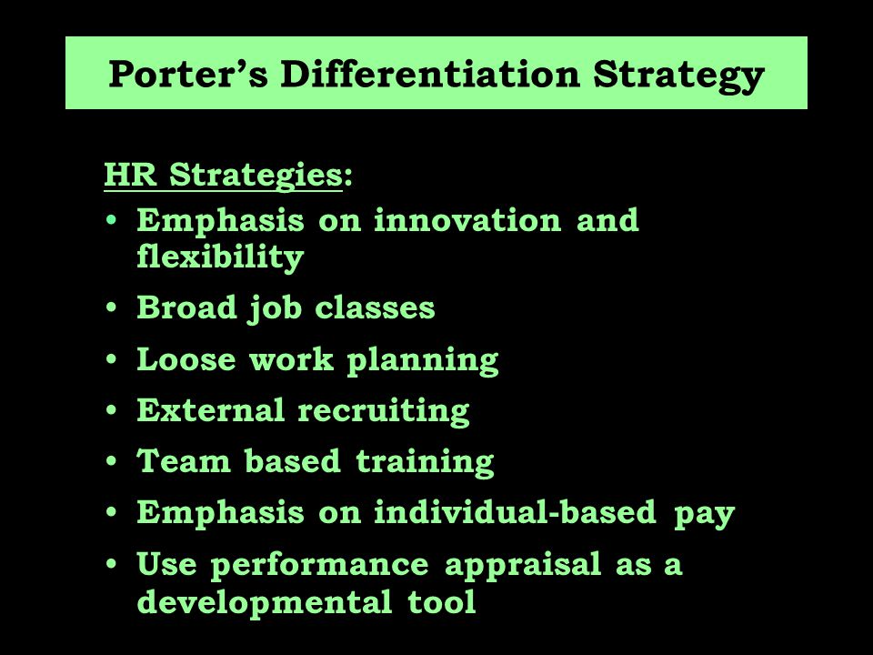 Porter's Differentiation Strategy