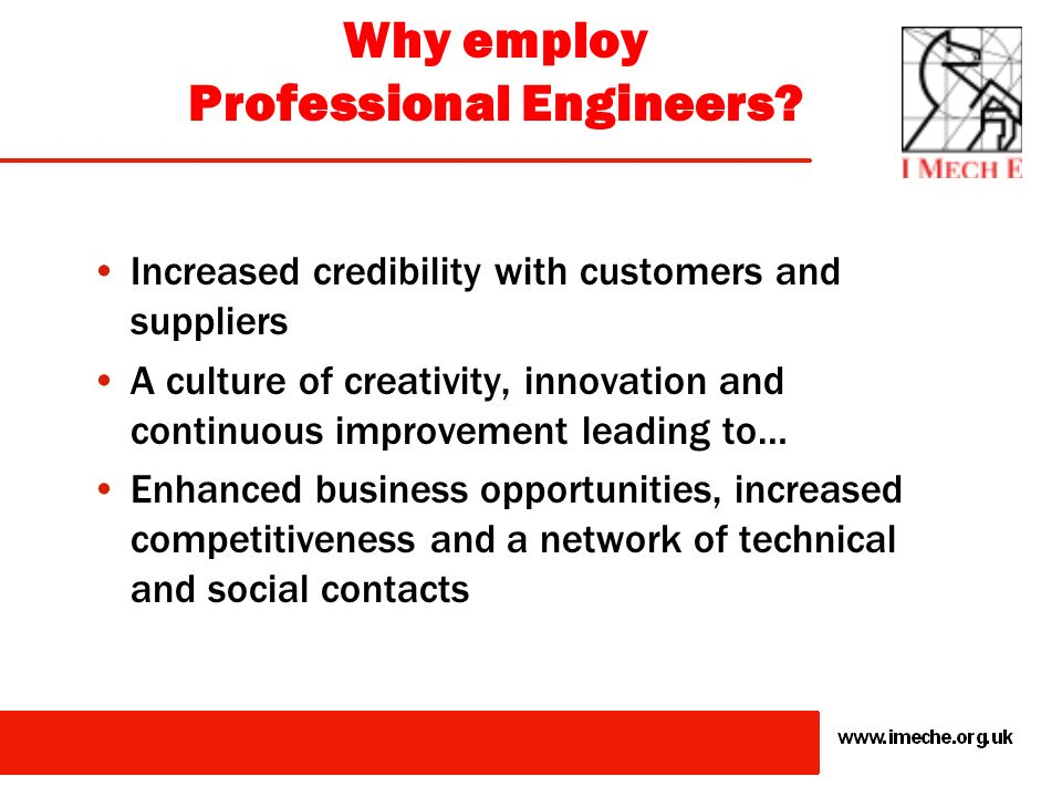Why employ Professional Engineers