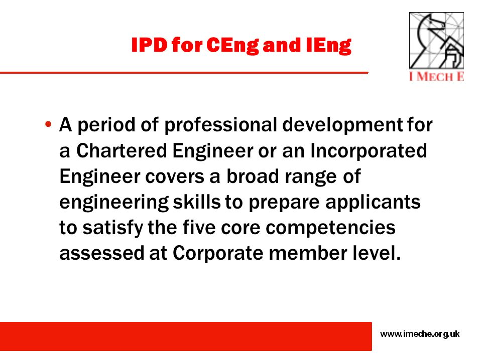 IPD for CEng and IEng