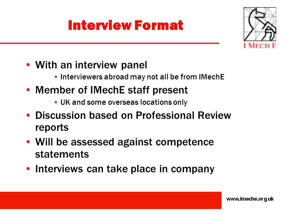 Interview Format With an interview panel