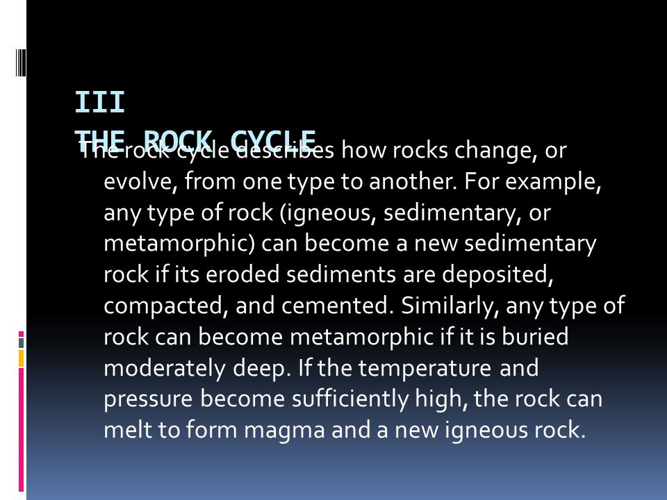 III THE ROCK CYCLE