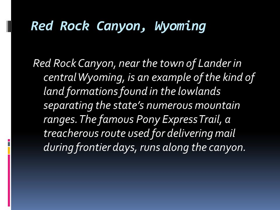 Red Rock Canyon, Wyoming