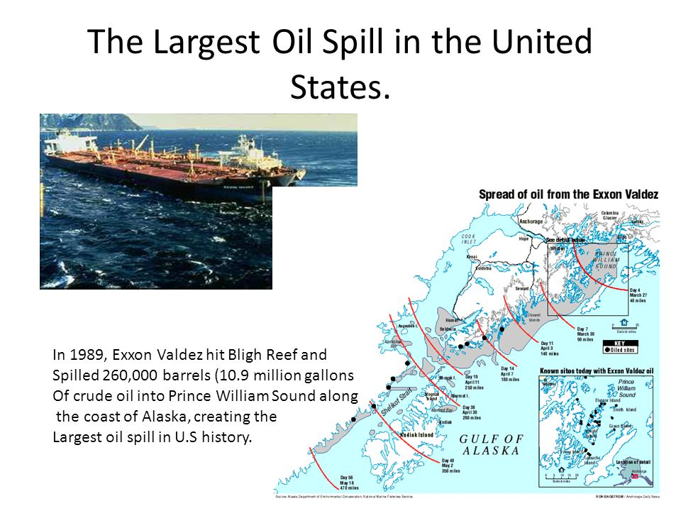The Largest Oil Spill in the United States.