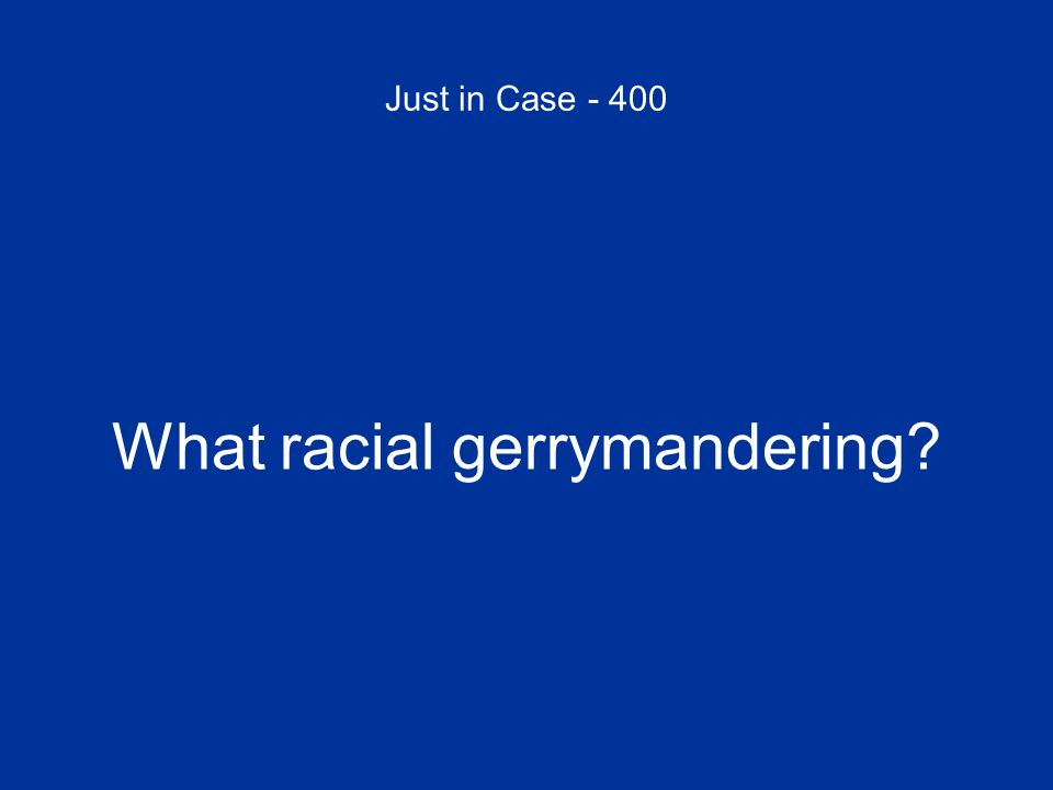What racial gerrymandering
