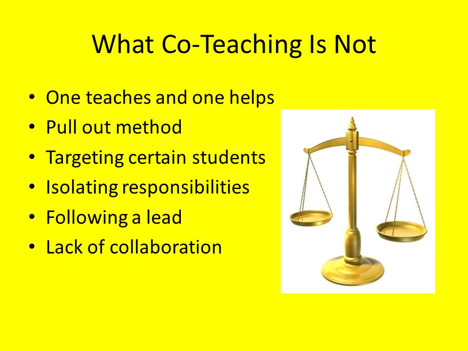 What Co-Teaching Is Not